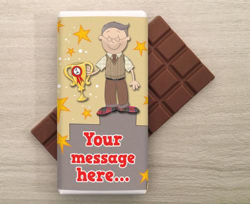 Personalised Champion Grandad Milk Chocolate Bar