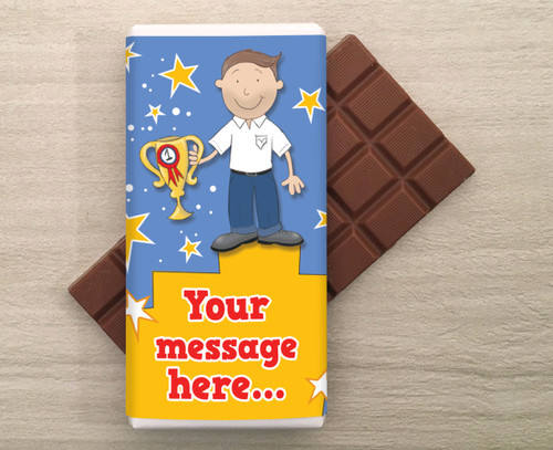 Personalised Champion Milk Chocolate Bar