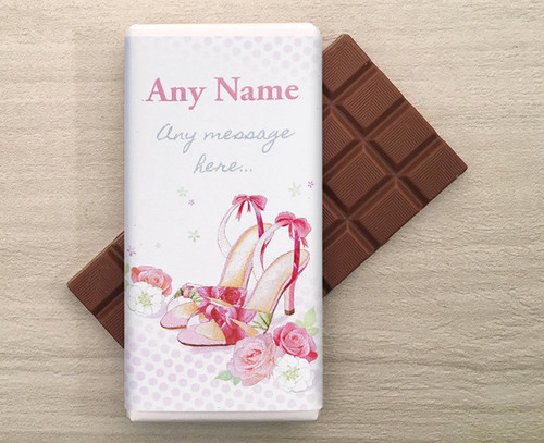 Personalised Shoes Milk Chocolate Bar (9223)