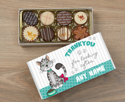Personalised Thank You Cat 8 Luxury Chocolate Box
