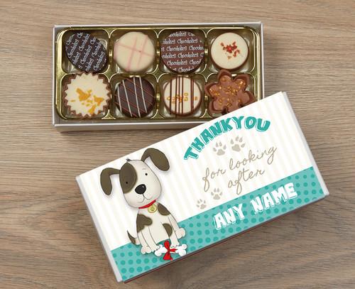 Personalised Thank You Dog 8 Luxury Chocolates in Box