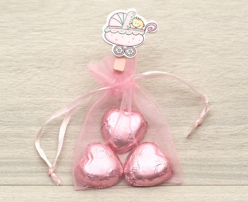 Organza Bag in pink for wedding  favours, table gifts for anniversaries, company events, celebration parties