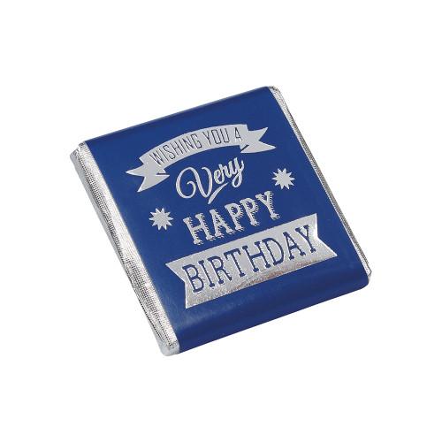 Happy Birthday Blue Neapolitan - Bag of 40