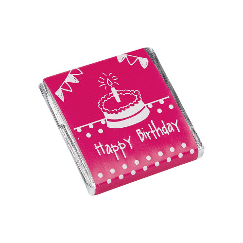 Milk Chocolate Neapolitans - Pink Birthday Cake Design
