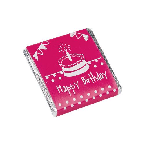 Milk Chocolate Neapolitans - Pink Birthday Cake Design