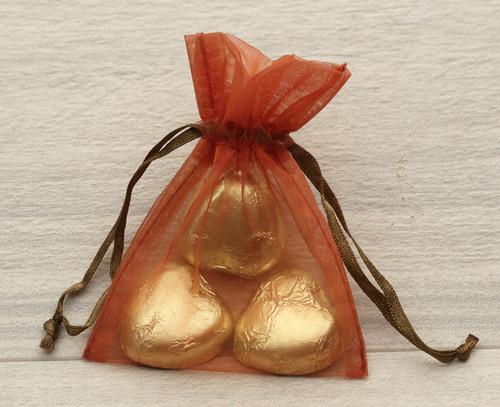Organza Bag in Brown for wedding  favours, table gifts for anniversaries, company events, celebration parties