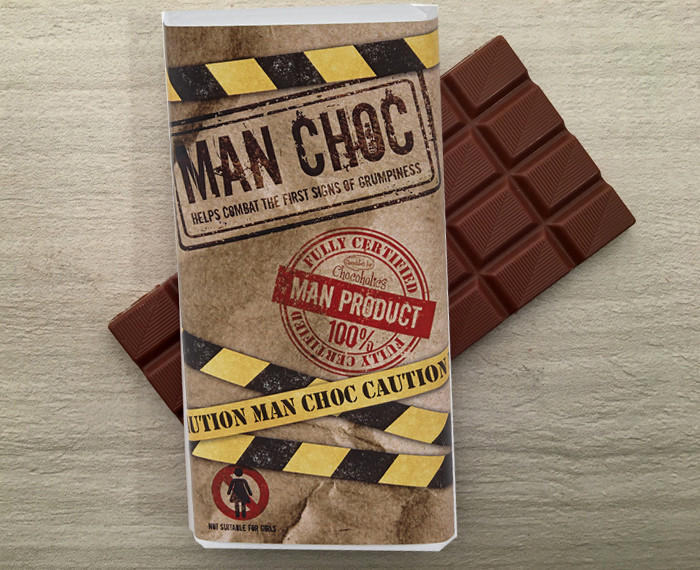 Milk Chocolate Bar 100g For The Man In Your Life From Chocolates For Chocoholics