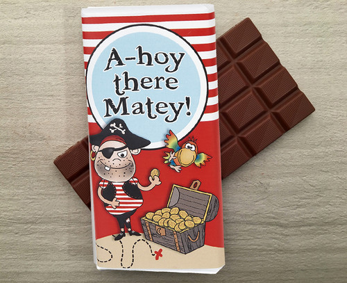 Milk chocolate bar for a pirate. This treasure is worth walking the plank for.