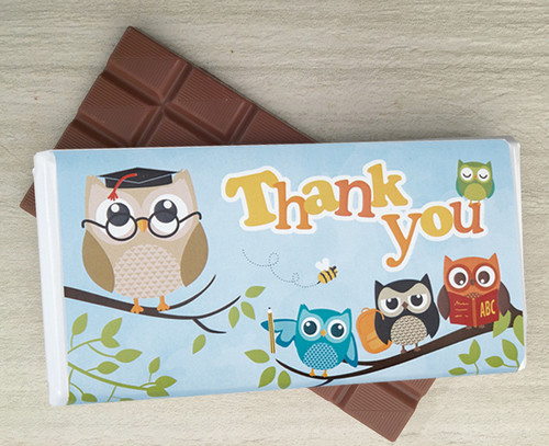Milk chocolate bar as a thank you gift - perhaps for a Teachers Gift - from Chocolates for Chocoholics