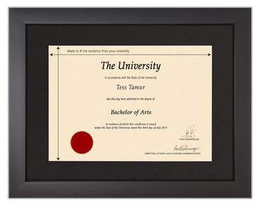 Frame for degrees from University of Manchester | University Degree Certificate Frames