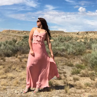 Pretty in Pink Maxi Slit Dress