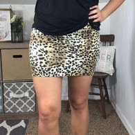 Lady in Leopard Skirt
