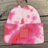 Pink Tye Dye Beanie