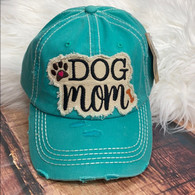 Dog Mama Teal Baseball Hat