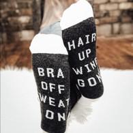Bra Up Wine Socks
