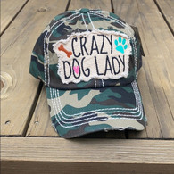 Crazy Dog Lady Camo Hat