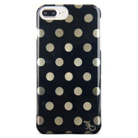 Designer Profile Case For iPhone 8/7/6/6s Plus - Black/Gold Dot