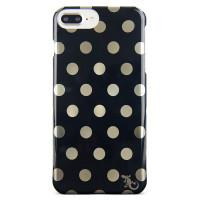 Designer Profile Case For iPhone 8/7/6/6s Plus - Black/Gold Dot