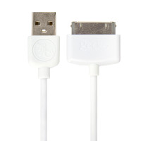 Gecko 30 pin to USB Cable Round 1.2m - White