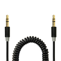 Gecko AUX Audio Coiled Cable 1.8m - Black