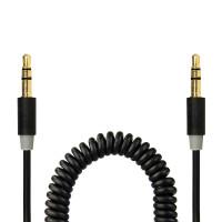 Gecko AUX Audio Coiled Cable 1.8m - Black