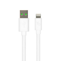 Gecko USB to Lightning Flat Cable 1m - White