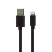Gecko Essentials USB to Lightning flat cable 1.2m - Black