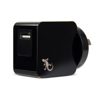Gecko Wall Charger Single USB Port 2.4 Amp - Black