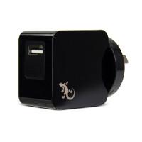 Gecko Wall Charger Single USB Port 2.4 Amp - Black