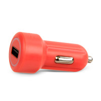 Gecko Car Charger Single USB Port 2.4 Amp - Coral
