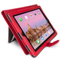Gecko Deluxe Folio for iPad 2/3/4 - Red
