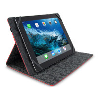 "Gecko Universal Grip Folio - 9.7"" to 10.8"" - Red"