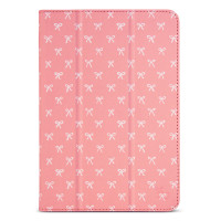 Designer Folio Case for iPad Mini 1/2/3/4 - Salmon Bows