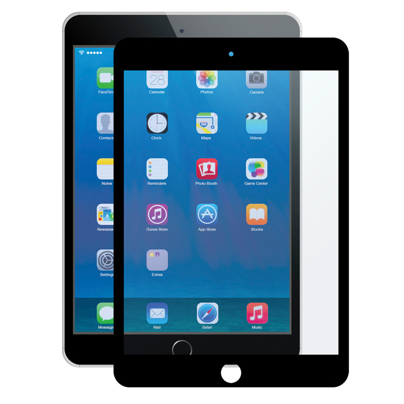 Gecko Bubble-Free Screen Protector for iPad mini 1/2/3 - Black - 1 Pack