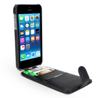 Gecko Flip Wallet Case for iPhone 5/5s/SE - Black