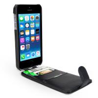 Gecko Flip Wallet Case for iPhone 5/5s/SE - Black
