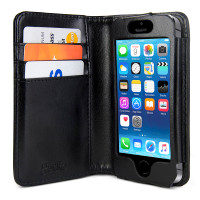 Gecko Deluxe Wallet Case for iPhone 5/5s/SE - Black
