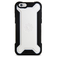 Gecko Rugged Hybrid Case for iPhone 6/6s - Black/White