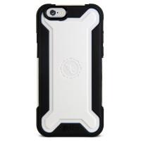 Gecko Rugged Hybrid Case for iPhone 6/6s - Black/White