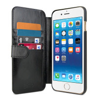 Gecko Deluxe Wallet Case for iPhone 8/7/6/6s Plus - Black