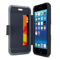 Gecko Rugged Hybrid Wallet Case for iPhone 6/6s - Black