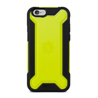 Gecko Ultra Tough Armour Case for iPhone 6/6s - Black/Citron