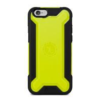 Gecko Ultra Tough Armour Case for iPhone 6/6s - Black/Citron