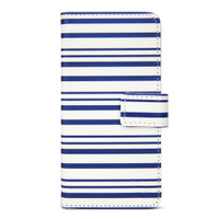 Designer Wallet Case for iPhone 6/6s - Blue Stripes