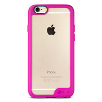 Gecko Vision Case for iPhone 6/6s - Pink Trim