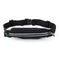 Gecko Active Single Pocket Fitness Belt - Black