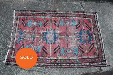 "Persian Rug, Vintage 2'7""x4'1"""