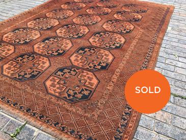 Vintage Large Persian Rug Turkoman