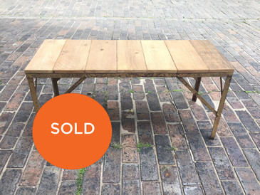 The Anything Table with a Cedar Plank Top