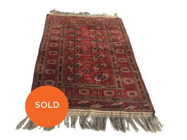 Semi-Antique Turkoman Bokhara Rug